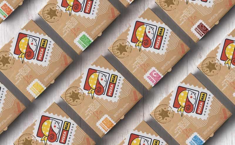 Checa el branding de Pizza Ria