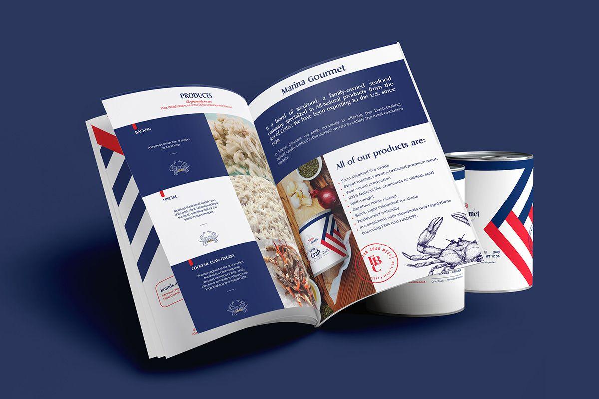 marina gourmet diseño editorial