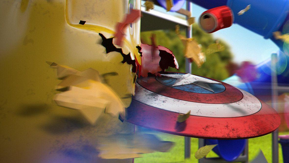 capitan america modelado 3d personaje