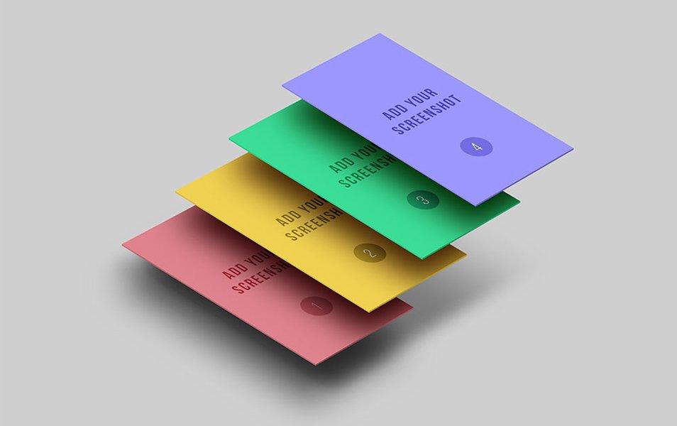 App Display Screen PSD Mockups
