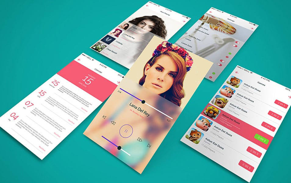 App Screen Showcase Mockup