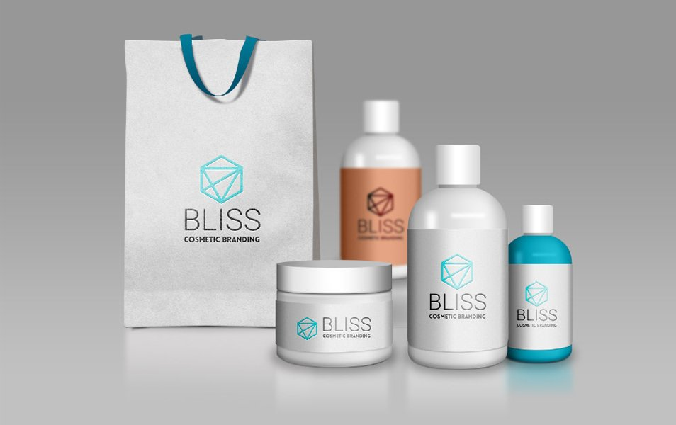 Cosmetic Branding Mockups PSD
