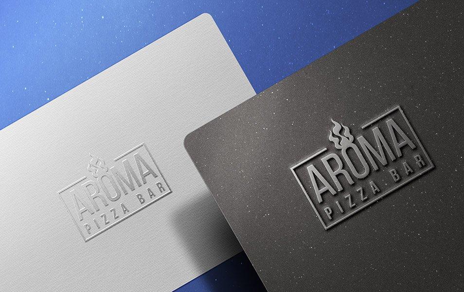 Embossed Metallic Logo Mockup