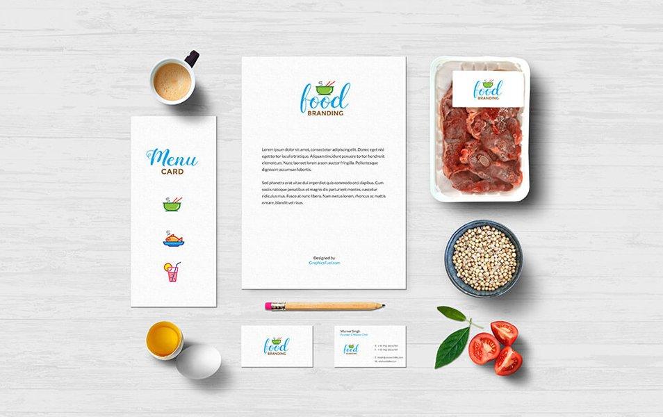 Food Branding Mockups PSD