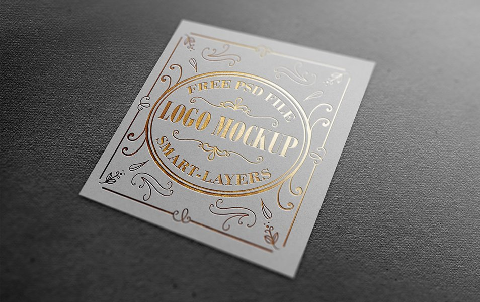 Gold and Silver Stamping Logo Mockup