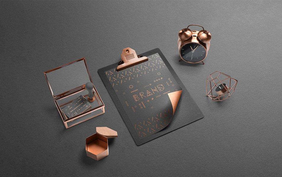 Isometric Branding Mockups Free Scene