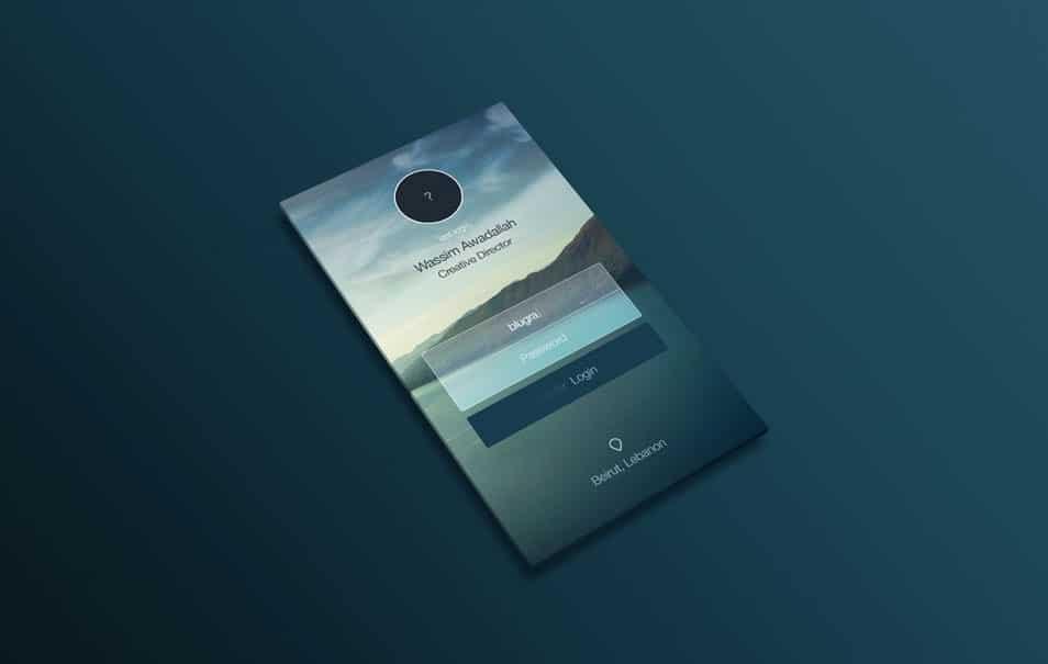 Perspective App Design MockUp