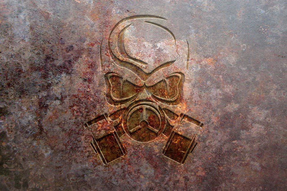 Rust Metal Logo Mockup