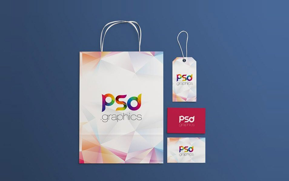Shopping Brand Identity Mockups Free PSD