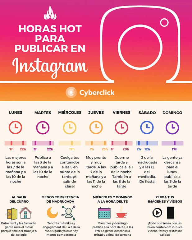 horas para publivar en instagram