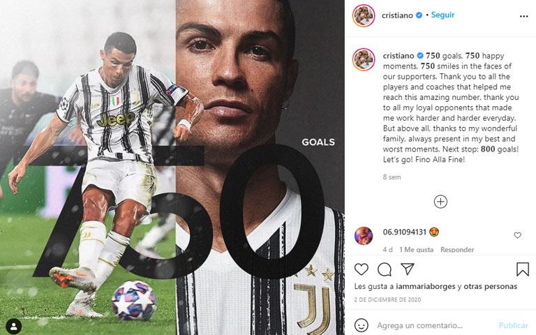 branding en instagram de ronaldo