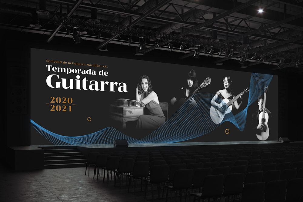 branding pantalla auditorio evento guitarra mazatlan