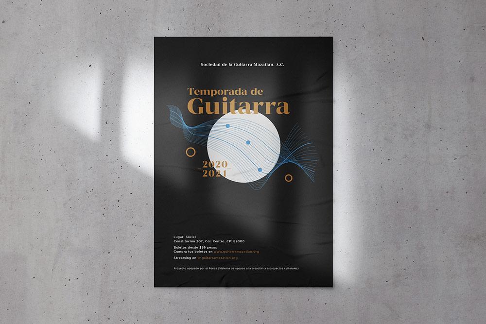 branding poster evento guitarra