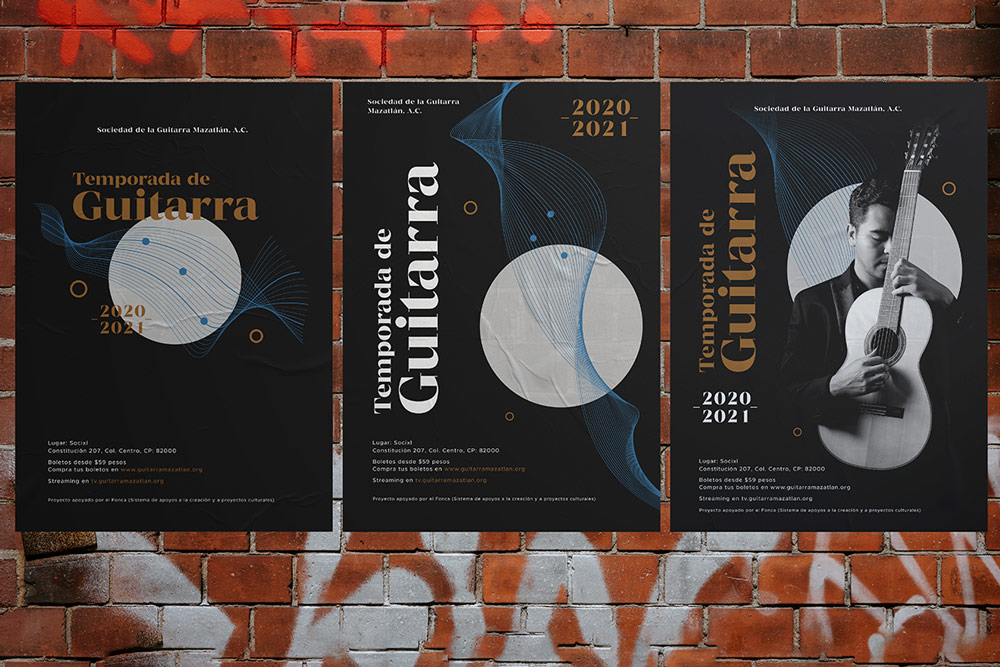 branding posters calle evento guitarra mazatlan